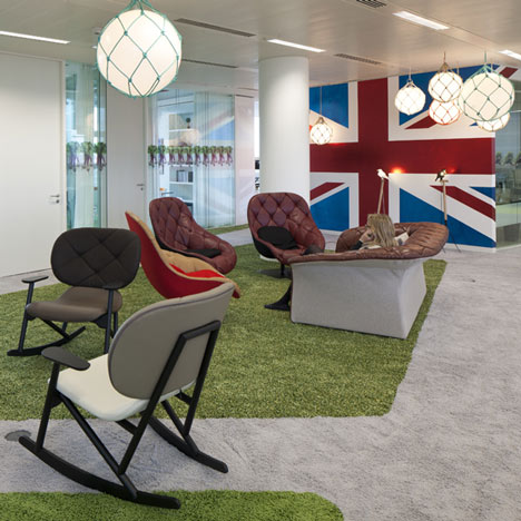 bureau google londres red banana studio influences. Black Bedroom Furniture Sets. Home Design Ideas