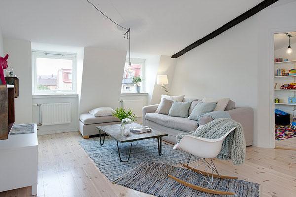 Int rieur du jour petit appartement en su de red for Meubles nuances montreal