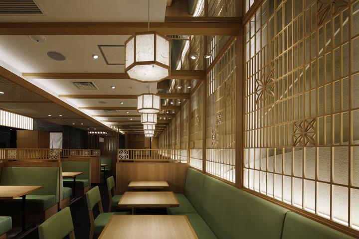 Architecture commerciale restaurant au japon saboten for Interieur japonais