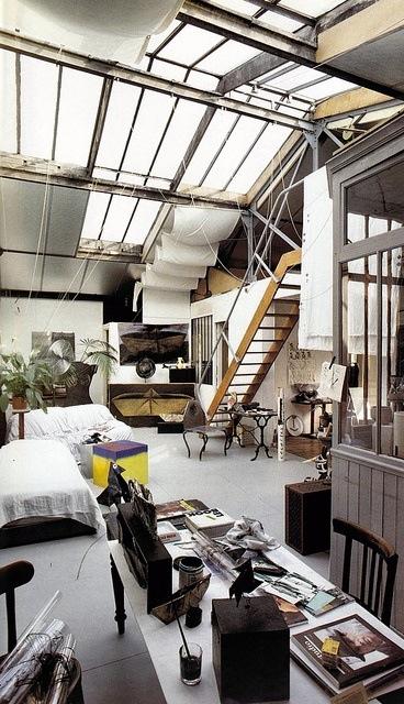Ambiance int rieur du jour loft industriel red banana - Loft design industriel cloud studio ...
