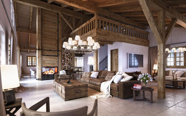 Votre futur chalet en suisse influences architecte int rieur for Innendesign wohnzimmer