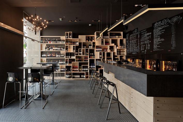 Bar à vin Bucarest - Blog Red Banana Studio d\'architecture commerciale