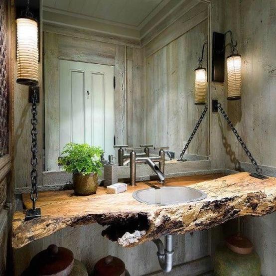 reclaimed-wood-bathroom-countertop