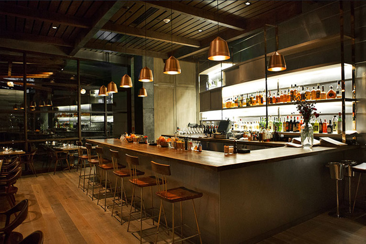 Int rieur de restaurant los angeles influences architecte for Architecte interieur restaurant
