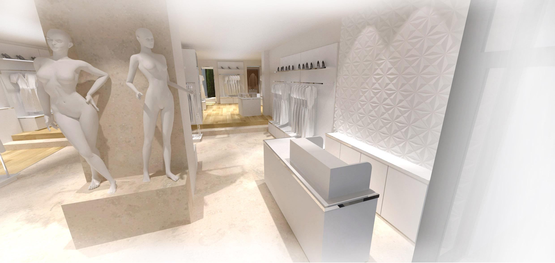 Architecte décoration d'intérieur de commerce boutique à Aix en Provence