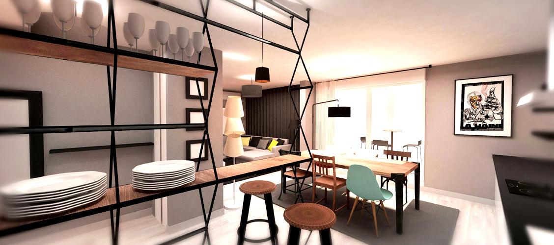 projet d 39 int rieur d 39 un appartement bureau aix red. Black Bedroom Furniture Sets. Home Design Ideas