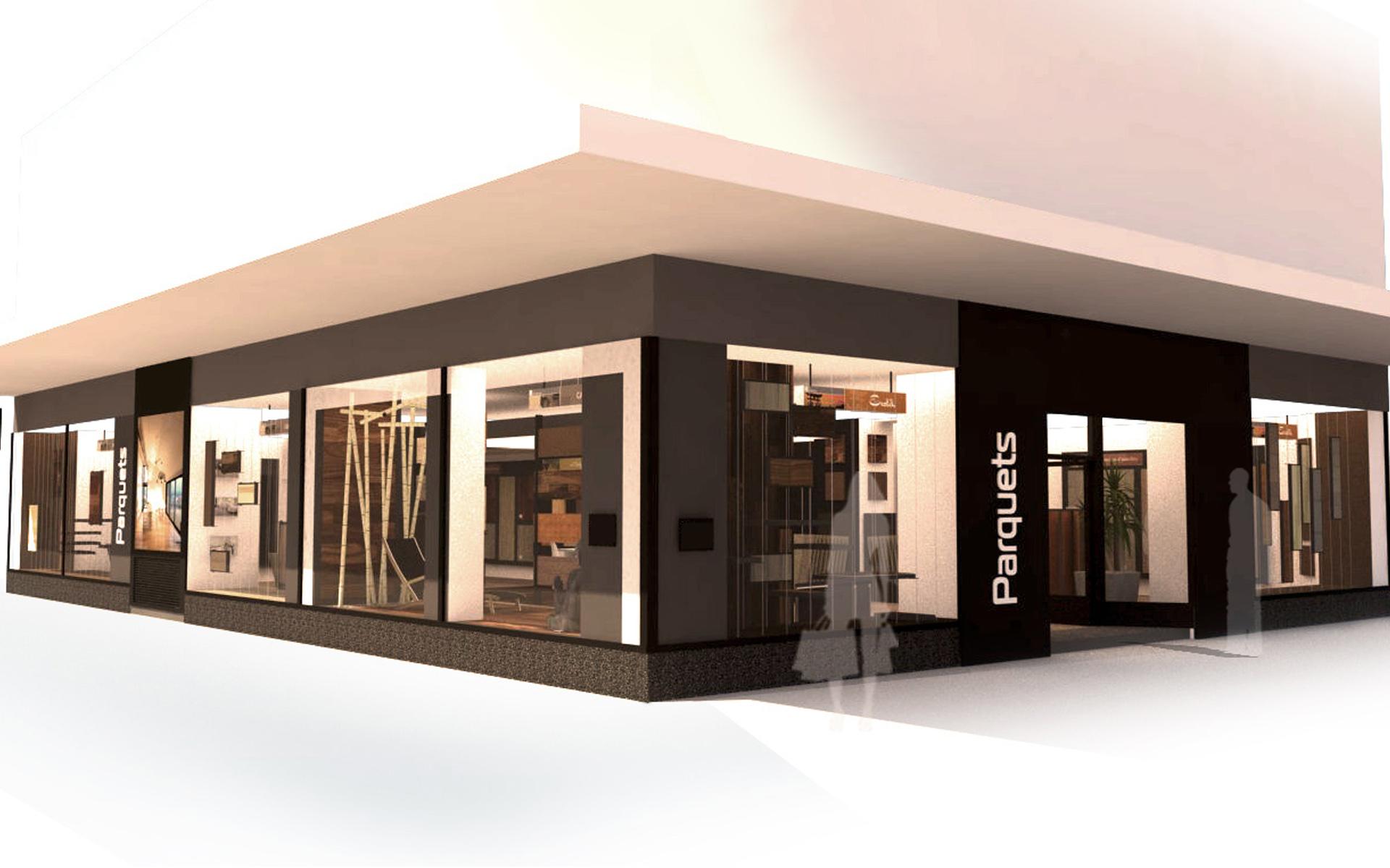 Intérieur boutique de parquet 010