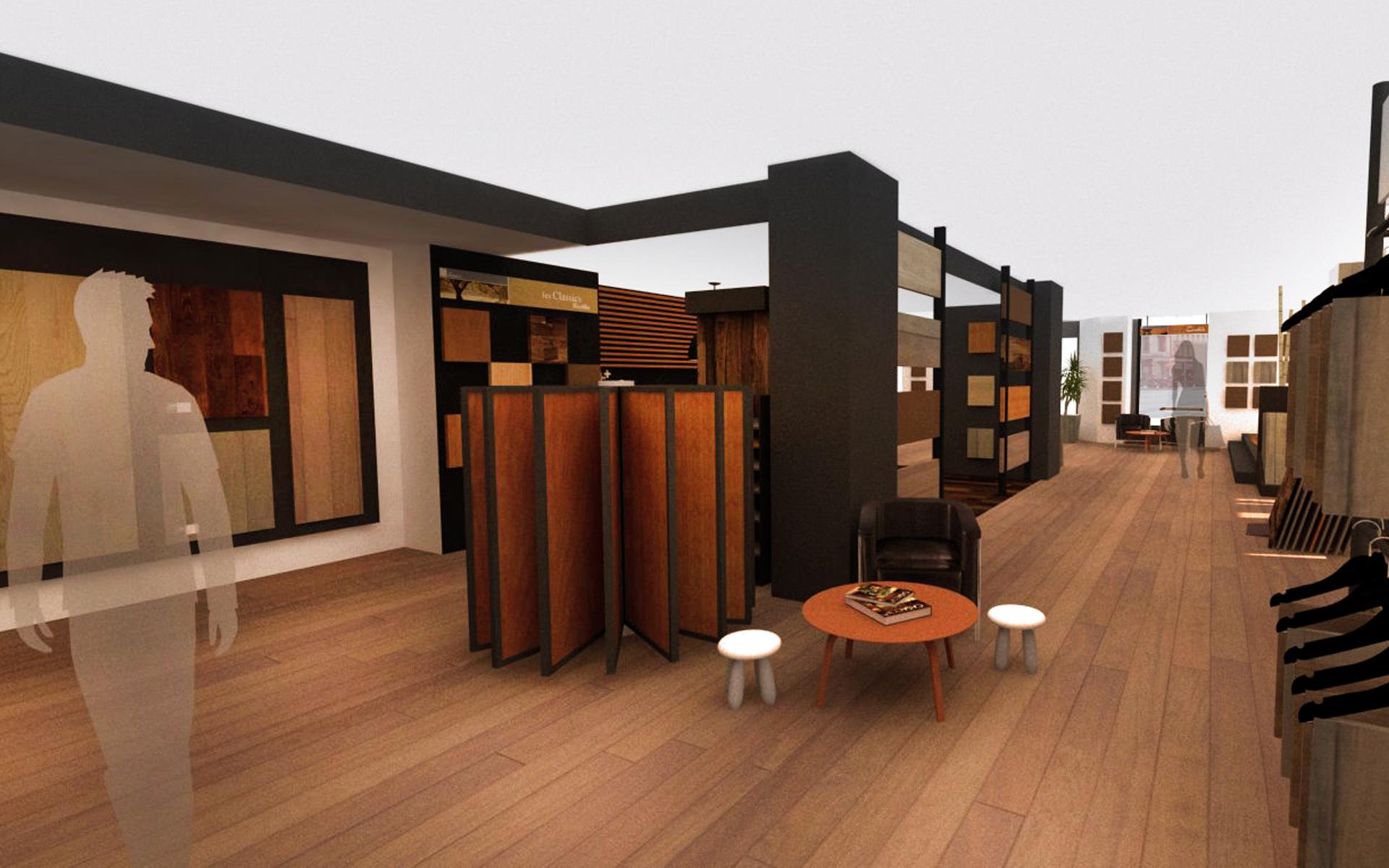 Intérieur boutique de parquet 02