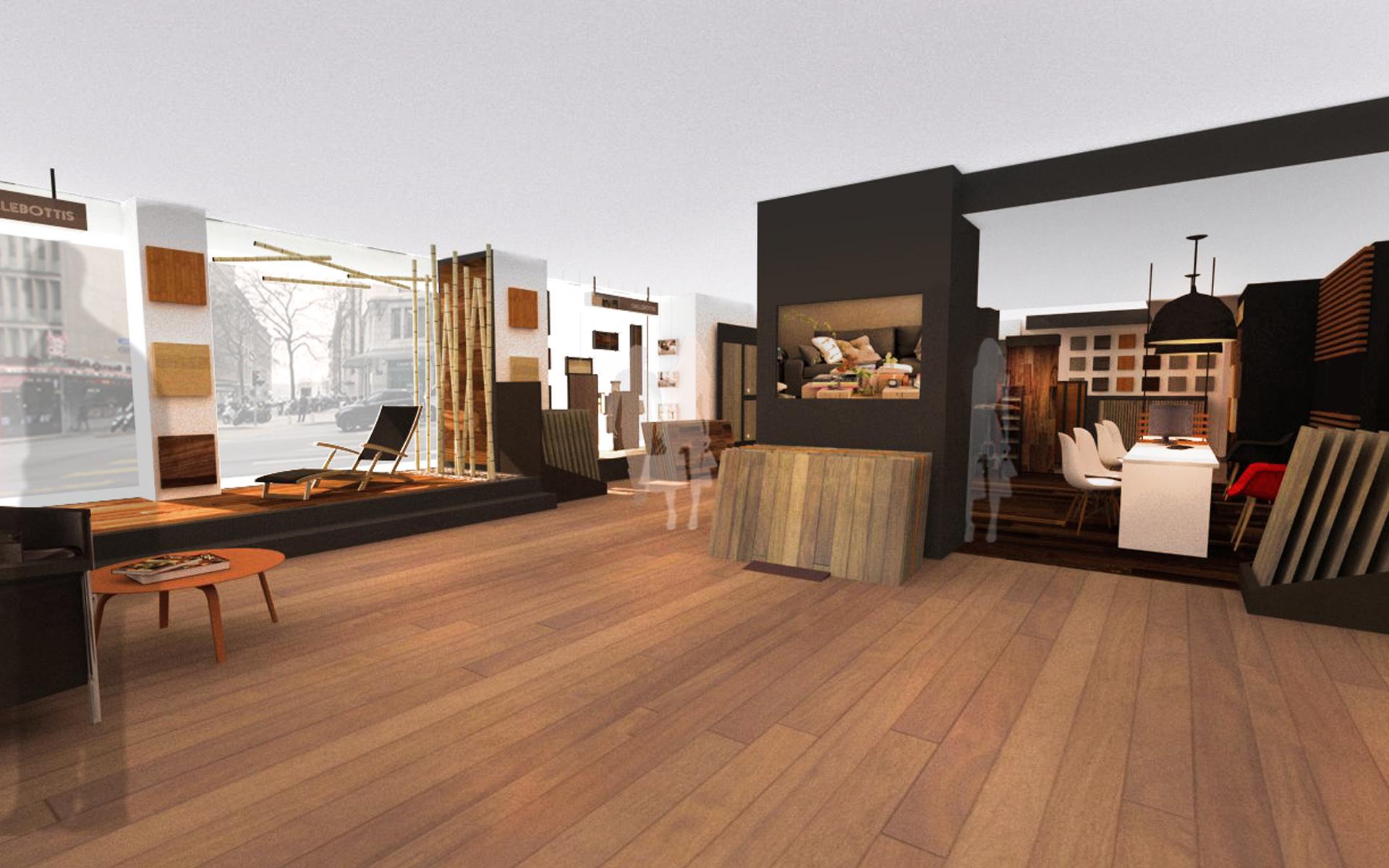 Intérieur boutique de parquet 04