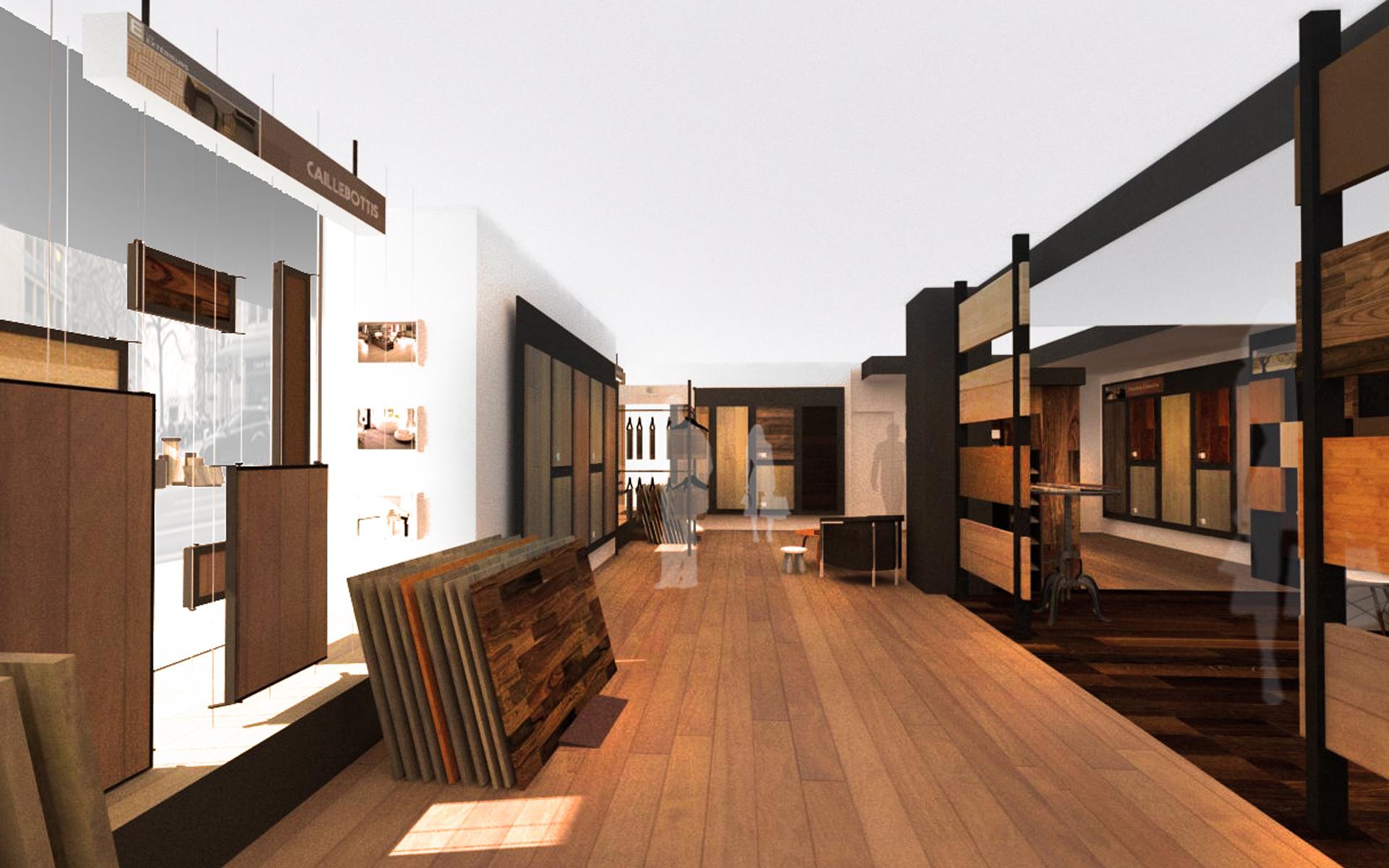 Intérieur boutique de parquet 05
