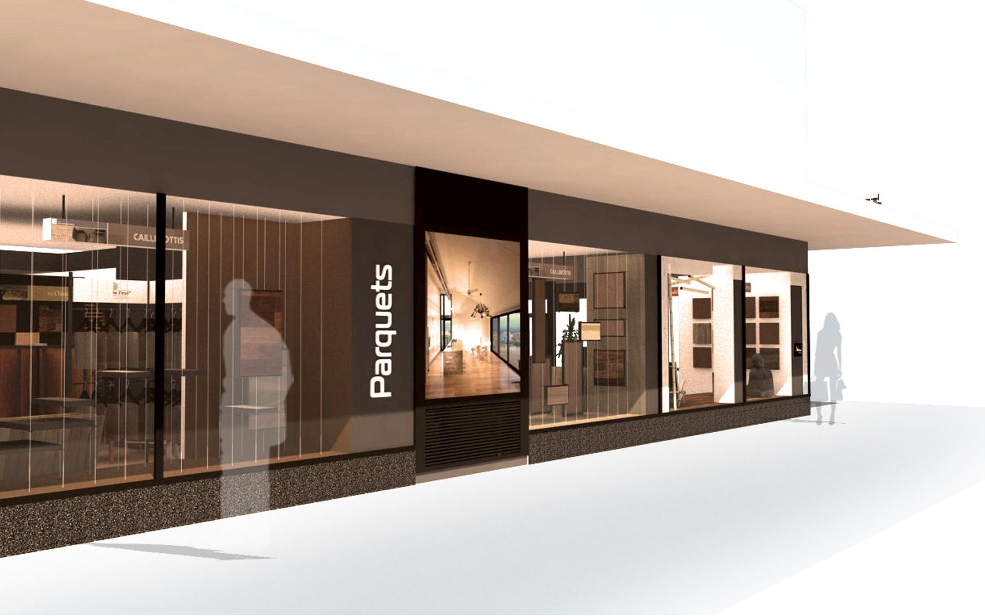 Intérieur boutique de parquet 09