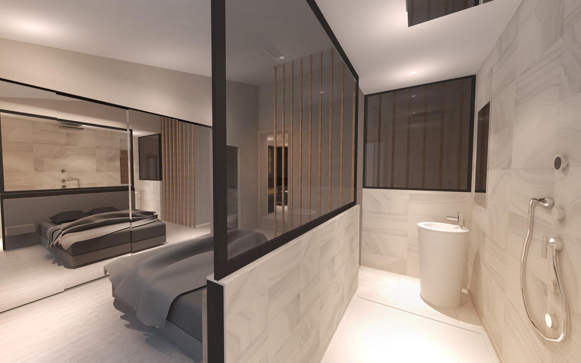 Am nagement d 39 une villa contemporaine aix en provence for Architecture interieure contemporaine
