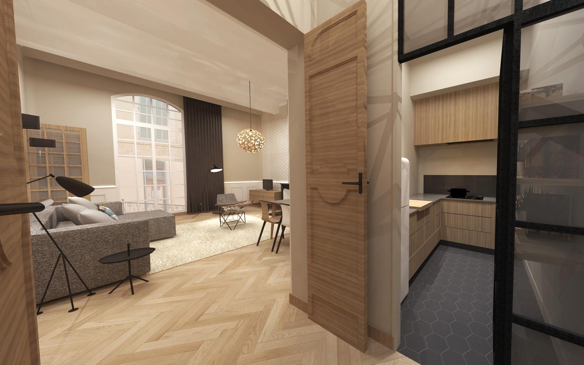 R novation quartier mazarin aix en provence red banana for Appartement atypique aix en provence