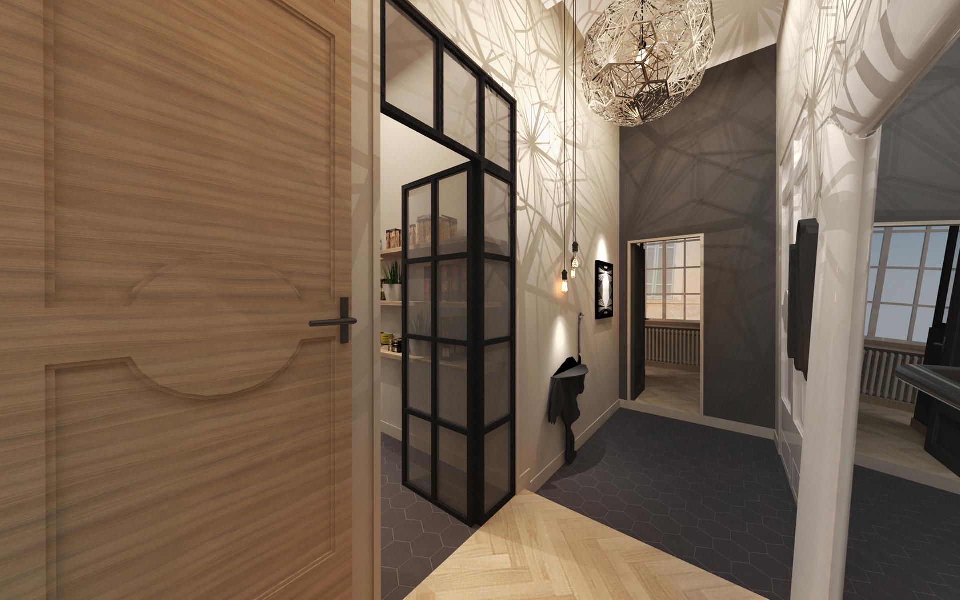 R novation quartier mazarin aix en provence red banana studio concepteur d 39 int rieur for Renovation appartement haussmannien