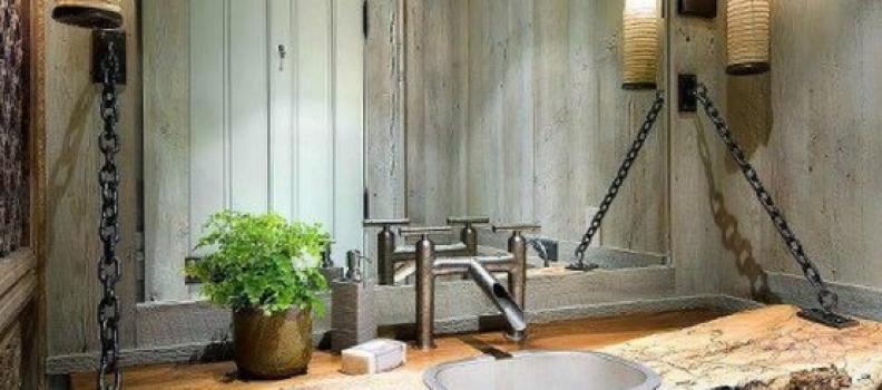 Ambiance intérieure du jour – Un lavabo qui envoie du bois
